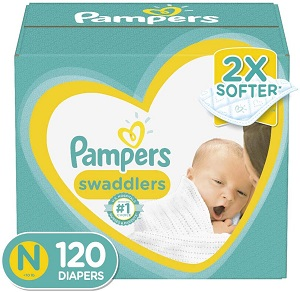Pampers Swaddlers - best diapers for sensitive skin