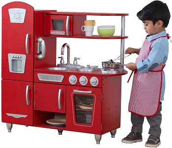 10. KidKraft Vintage Play Kitchen Red