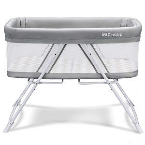10. MiClassic All mesh StationaryRock Bassinet 3