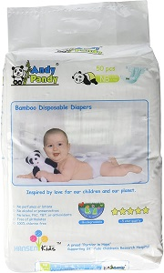8. Andy Pandy Biodegradable Bamboo Disposable Diapers
