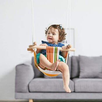 10. HAPPY PIE PLAYADVENTURE Secure Canvas Hanging Swing