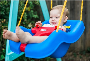2. Little Tikes Swing Blue