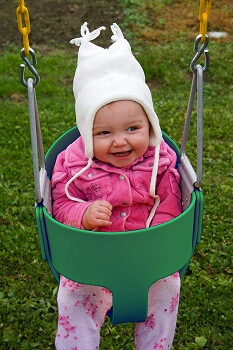 6. Eastern JungleBucket Toddler Swing