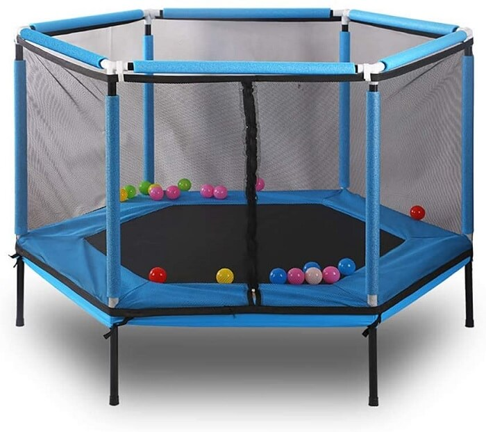 10. FEDYS Trampolines for Kids Indoor Trampoline Small Hexagon Trampoline Outdoor