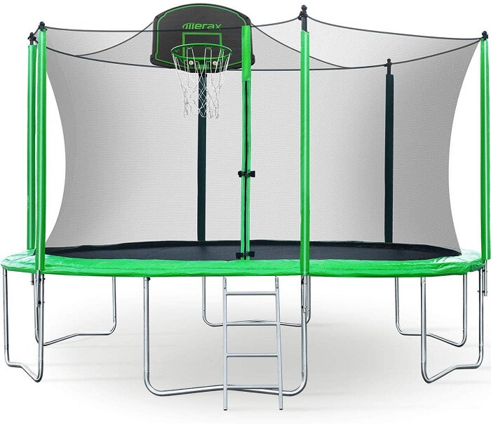 2. Merax 12FT 14FT Trampoline with Safety Enclosure Net 1
