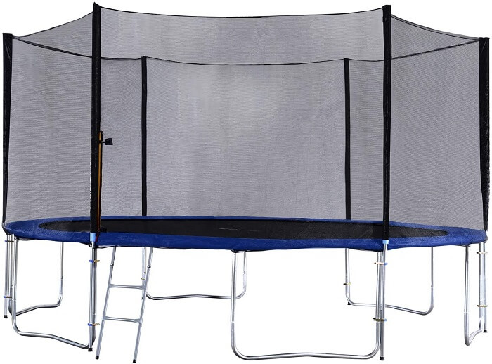 3. Exacme 6W Legs Trampoline with Safety Pad Enclosure Net