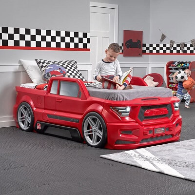2. Step2 Turbocharged Twin Truck Kids Bed Red 1