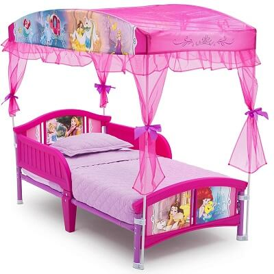 6. Delta Children Canopy Toddler Bed Disney Princess 2
