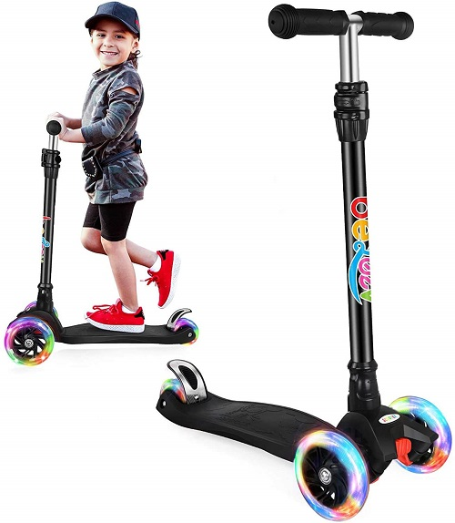 2.BELEEV Scooters for Kids 3 Wheel Kick Scooter for Toddlers Girls Boys