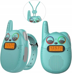 2.FRS Walkie Talkies with FM Wearable Rechargeable Walkie Talkies for Kids