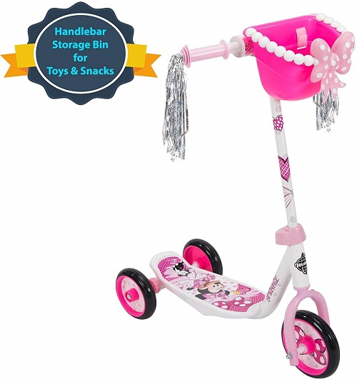 6.Huffy Bicycle Company Disney Minnie Mouse Preschool Scooter