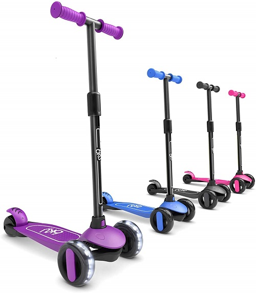 7.6KU 3 Wheels Kick Scooter for Kids and Toddlers Girls Boys