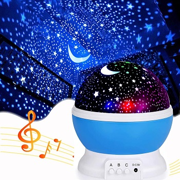 9.Music Star Projector Night Lights for Kids 1
